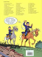 Les tuniques bleues t.26 ; l'or du Québec - 4ème de couverture - Format classique