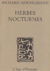 Herbes Nocturnes - Couverture - Format classique