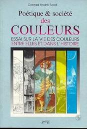 Poetique et societes des couleurs - Couverture - Format classique