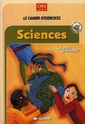 Sciences ; Le Cahier - Intérieur - Format classique