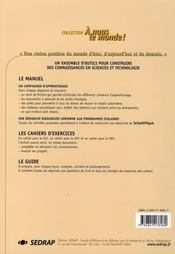Sciences ; Le Cahier - 4ème de couverture - Format classique