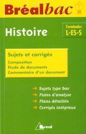 Une année d'histoire, Tle L-ES-S - Intérieur - Format classique