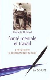 Sante Mentale Et Travail - Intérieur - Format classique