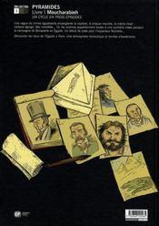 Pyramides t.1 ; moucharabieh - 4ème de couverture - Format classique