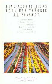 Cinq propositions pour une théorie du paysage - Intérieur - Format classique