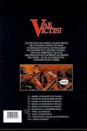 Vae victis T.10 ; Arulf l'icenien - 4ème de couverture - Format classique
