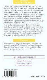 Pratique De L'Auto-Hypnose N.65 - 4ème de couverture - Format classique
