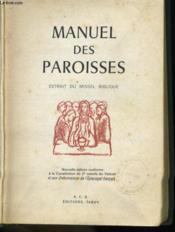 Manuel Des Paroisses Extrait Du Missel Biblique - Couverture - Format classique