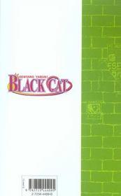 Black cat t.6 ; le prix du bonheur - 4ème de couverture - Format classique