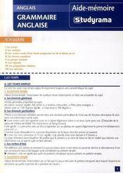 Grammaire anglaise - Intérieur - Format classique