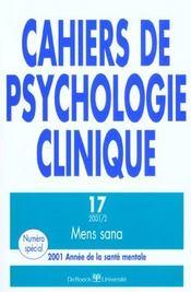 Cahiers De Psychologie Clinique - Intérieur - Format classique