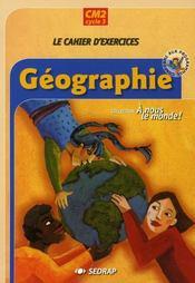 Le Cahier Cm2 A Nous Le Monde Geographie - Cycle Iii - Intérieur - Format classique