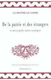 De La Patrie Et Des Etrangers - Intérieur - Format classique