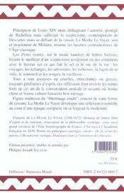 Patrie Et Des Etrangers (De La) - 4ème de couverture - Format classique