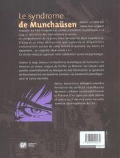 Syndrome De Munchausen (Le) - 4ème de couverture - Format classique