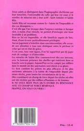 Par Le Pouvoir De Sainte Rita - 4ème de couverture - Format classique
