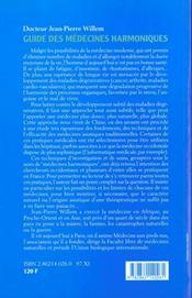 Guide Des Medecines Harmoniques - 4ème de couverture - Format classique