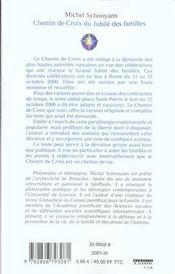 Chemin de croix du jubile des familles - 4ème de couverture - Format classique
