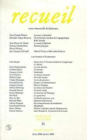 Recueil 31 - Couverture - Format classique