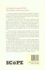En Parlant Un Peu De Paris/Chroniques (Vente Ferme) - 4ème de couverture - Format classique