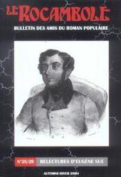 Revue Rocambole N.28 ; Relectures D'Eugène Sue - Intérieur - Format classique