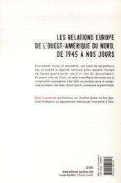 Europamérique ; Etats-Unis et Europe de l'Ouest de 1945 à nos jours - 4ème de couverture - Format classique