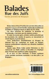 Balades rue des juifs ; cartes postales de Belgique - 4ème de couverture - Format classique