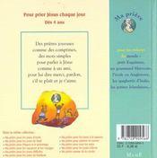 Ma Priere Pour Les Enfants Du Monde - 4ème de couverture - Format classique