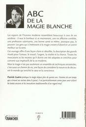 Abc De La Magie Blanche - 4ème de couverture - Format classique