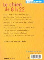 Le Chien De 8h22 - 4ème de couverture - Format classique