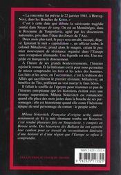 Neige De Sang - 4ème de couverture - Format classique