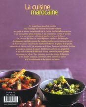 Cuisine Marocaine (La) - 4ème de couverture - Format classique