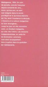 Le gout de la mangue - 4ème de couverture - Format classique