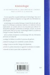 Kinesiologie - 4ème de couverture - Format classique