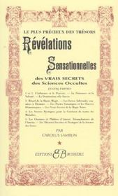 Revelations sensationnelles des vrais secrets des sciences occultes - Intérieur - Format classique