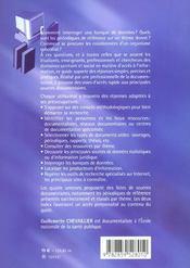 Guide Documentaire Sante Social - 4ème de couverture - Format classique