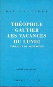 Vacances Du Lundi (Les) - Couverture - Format classique