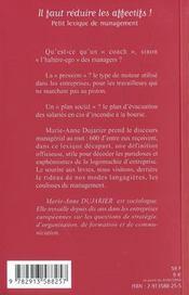 Logomachie Manageriale ; Mode D'Emploi - 4ème de couverture - Format classique