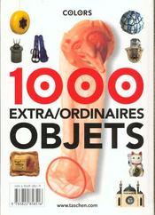 Ko-1000 Objets -Francais/Anglais - 4ème de couverture - Format classique