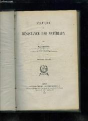 STATIQUE ET RESISTANCE DES MATERIAUX. 2em EDITION. - Couverture - Format classique