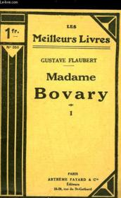 Madame Bovary - Tome 1 - Couverture - Format classique