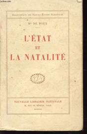 L'Etat Et La Natalite - Couverture - Format classique