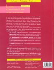 Le conte et l'apprentissage de la langue - 4ème de couverture - Format classique