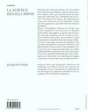 La Science Des Illusions - 4ème de couverture - Format classique