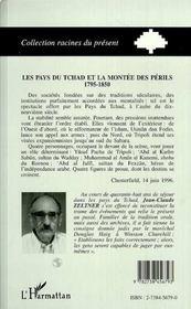 Les Pays Du Tchad Et La Montee Des Perils, 1795-1850 - 4ème de couverture - Format classique