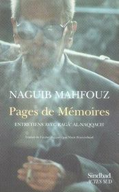 Pages de mémoire ; entretiens avec ragga al naqqâch - Intérieur - Format classique