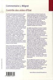 Contrôle des aides d'état - 4ème de couverture - Format classique