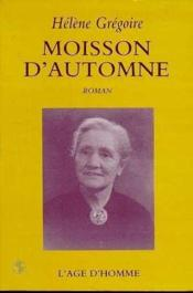Moisson D'Automne - Couverture - Format classique