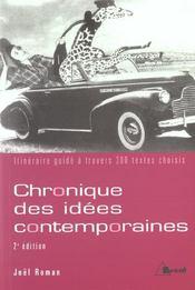 Chronique des idees contemporaines (2e édition) - Intérieur - Format classique