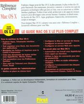 Mac Os X - 4ème de couverture - Format classique